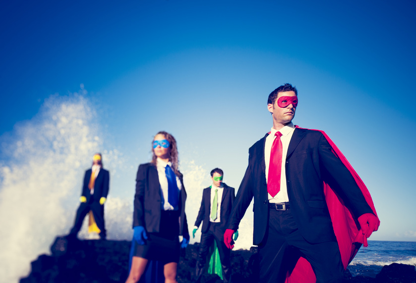 business superheros